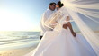 Bride & Groom After Their Dream Beach Wedding