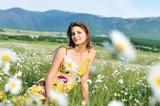 spring calm teen girl poster