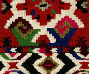 Kilim pattern, close up detail