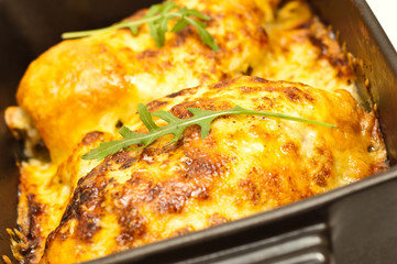 chicken breasts baked in cheese
