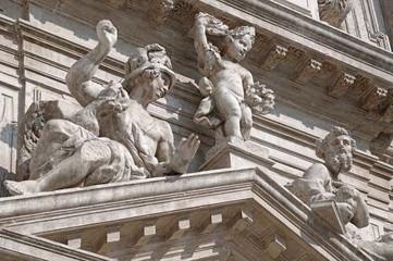 Church facade marble statues