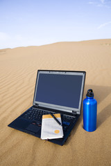 Laptop on the desert