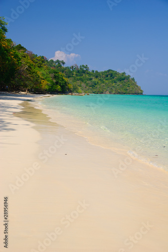 beautiful white sand beach of koh rok island, Krabi,Thailand