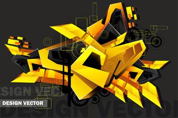 3d art graffiti vector © chispas
