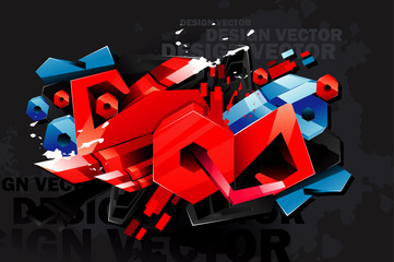 grunge fraffiti urban vector © chispas