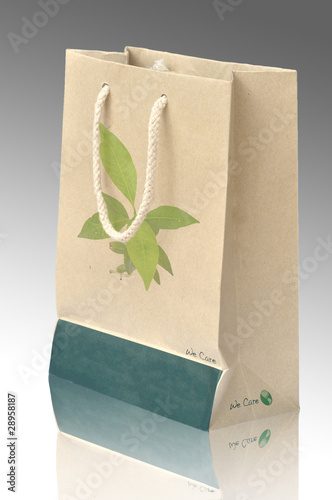 Concept picture of recycle paper bag for save environment