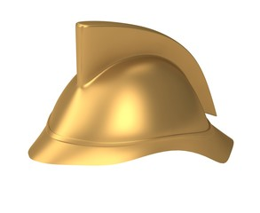 Fireman helmet 3d rendered