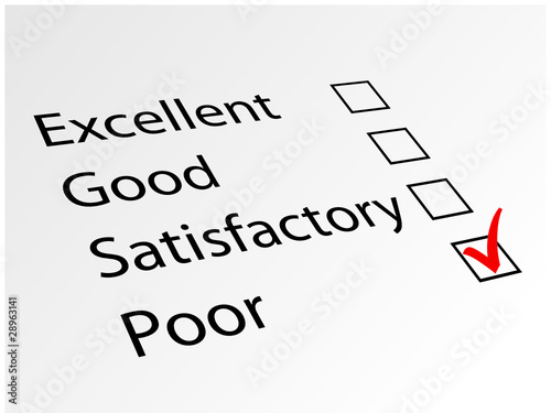 "Consumer Survey : ""POOR"" (quality opinion satisfaction feedback)"