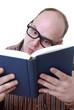 Nerd liest Buch