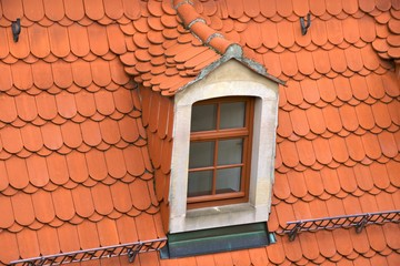 Tiled roof with dormer, Meißen, Germany