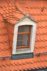 Tiled roof with dormer, Meißen, Germany