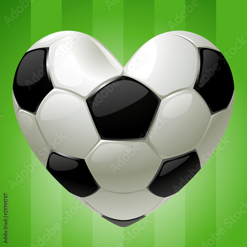 Vector Ball for football in the shape of heart