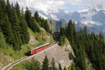 Schynige-Platte-Bahn vor Eiger, Mönch und Jungfrau