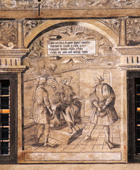 Renaissance fresco on Prachatice town hall