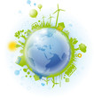 green world vector background ai10