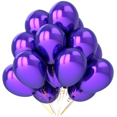 Purple party balloons. Beautiful holiday decoration (Hi-Res)