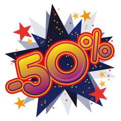Soldes promotions remises prix vente commerce promo 50%