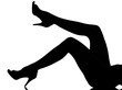 silhouette woman legs flaping