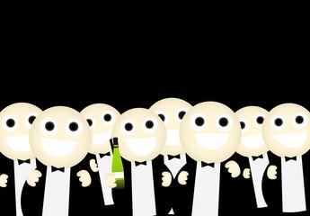 Gente de fiesta de noche