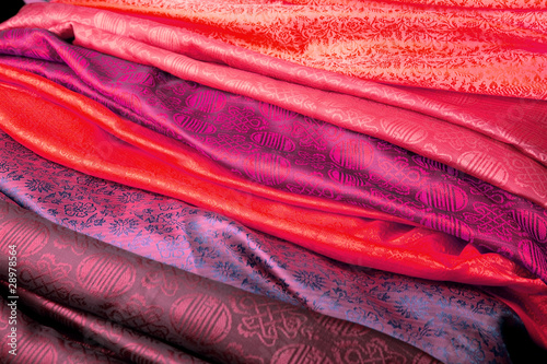 Leinwandbild Motiv Indian fabric