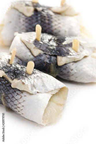 rollmops on white