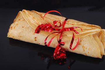 Chandeleur - Rouleau de crêpe en cadeau