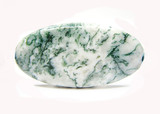 round green and white geological amazonit mineral bead poster