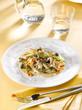 émincé de veau aux champignons - sliced veal -