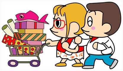買い物夫婦
