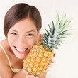Pineapple fruit woman