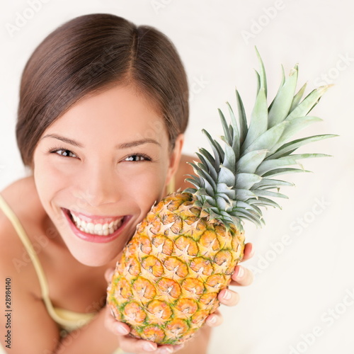Pineapple fruit woman - 28984140
