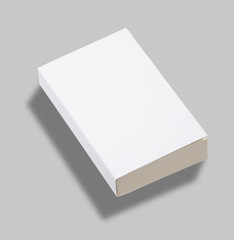 Blank paperback book cover w clipping path