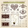 calligraphic elements vintage vector set. Happy valentine day