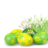 Fototapety Easter decoration with Easter eggs.