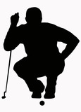Sport Silhouette - Golfer Sizing put up