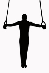 Sport Silhouette - Gymnast on Rings