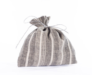 Traditional style linen gift bag