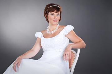 romantic pregnant bride