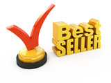 Bestseller concept Check mark award