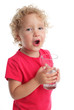 Child with a water glass