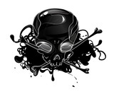 Skull with crossbones poster
