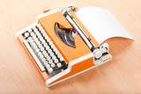 Typescript typing typewriter poster
