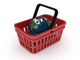 shopping basket and Globe