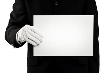 chauffeur holding card