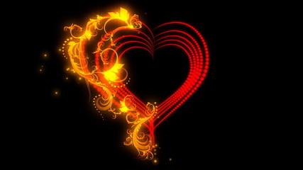 Sparkling heart.
