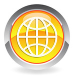 yellow globe button