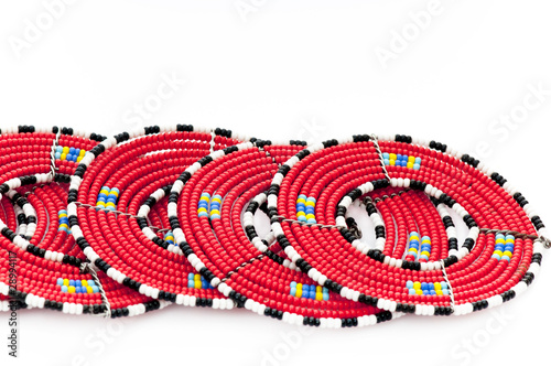 Masai beaded mats from East Africa.