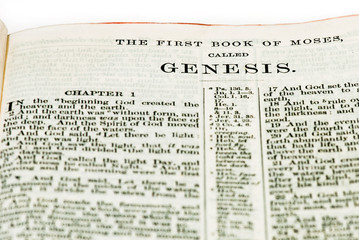 Start of the Book of Genesis from the King James Bible.