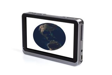 Portable GPS navigation.