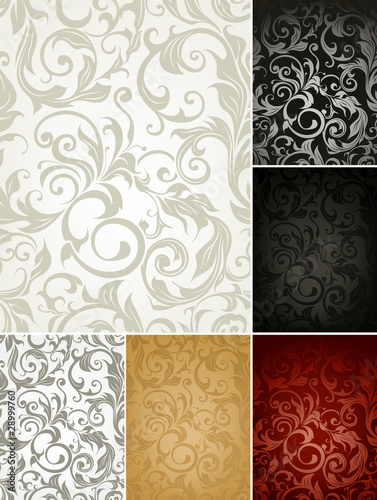 Seamless Pattern set of six colors
